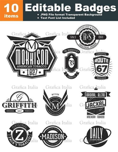 free editable logo templates retro blank badge logo templates 10 graphic designs editable text clipart digital