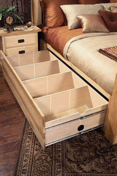 america amish highlands storage bed  white glove
