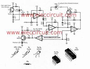 diy infrared remote extender circuit eleccircuit With ir extender circuit