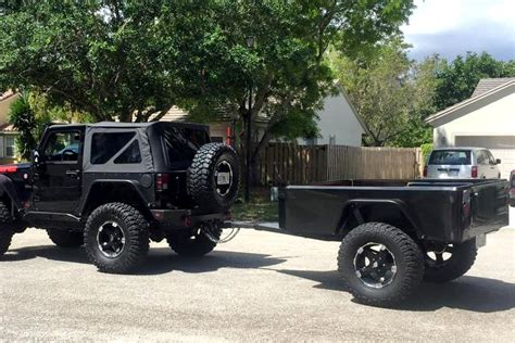 jeep trailer build jeep trailer j series build at home trailer extended
