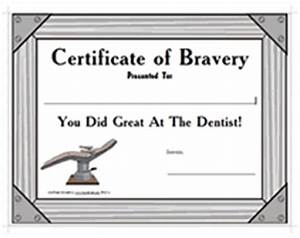 printable dentist certificates cake ideas and designs With bravery certificate template