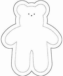 early play templates simple teddy bears to colour stitch With template for a teddy bear