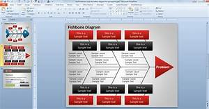 Flow Chart Template For Powerpoint 2010 Fishbone Cause And Effect Diagram For Powerpoint