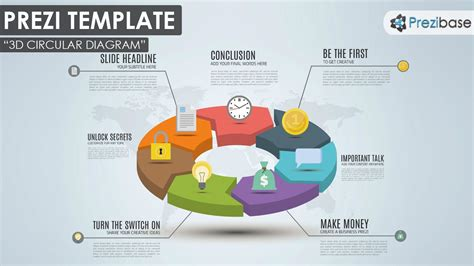 colorful  creative business  circular pie chart