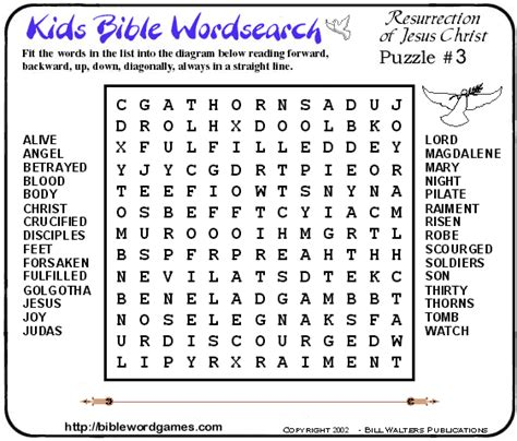 Christian Family Bible Wordsearch Puzzles