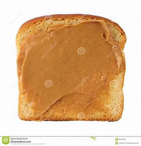 Slice Of Bread With Peanut Butter Stock Photo - Image ...