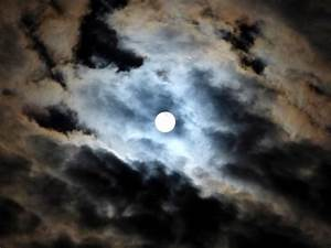 SKY, NIGHT, FULL MOON, CLOUDS, MOONLIGHT, CLOUDS VEIL ...