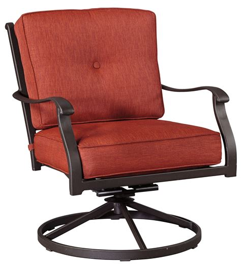 brown swivel chair burnella orange and brown swivel lounge chair set of 2 1840