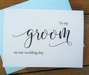 to my groom on our wedding day card shimmer envelopeto With gift for my bride on our wedding day