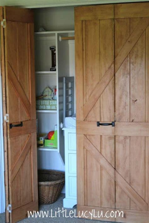 How To Make Bifold Closet Doors by Barn Door Ideas Refresh Restyle