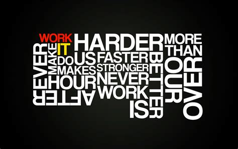 Harder Better Faster Stonger Typography By Subject-241 On