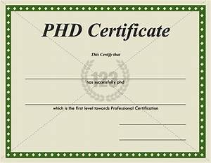 Templates and certificate templates on pinterest for Doctorate certificate template