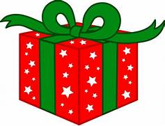 Red And Green Christmas Gift  Free Clip Art