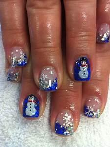 D christmas acrylic nail art