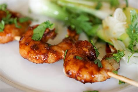 cuisiner crevette charmant cuisiner les crevettes 1 brochettes de gambas