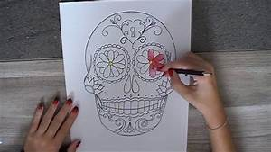Tete De Mort Mexicaine Dessin : dessiner une t te de mort mexicaine youtube ~ Melissatoandfro.com Idées de Décoration