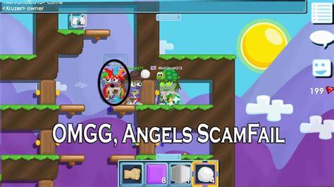 Omfg, We Scammed Fail Angel Wings L Growtopia Trolling