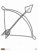 Arrow Drawing Archery Bow Coloring Pages Getdrawings sketch template