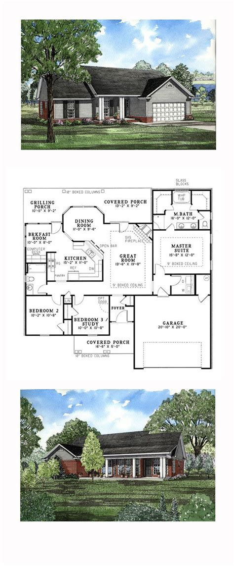 ranch style house plan number    bed  bath  car garage   ranch style home