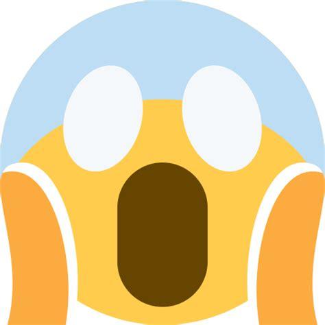 rosto gritando de medo emoji