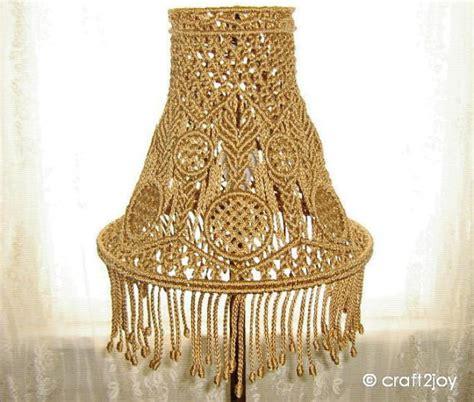 macrame lamp shade  table  floor  craftjoy  etsy