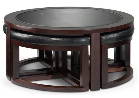 coffee table with stools underneath canada coffee table w four ottomans espresso s
