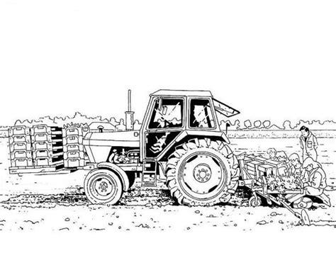 disegno trattore  fattoria didattica da colorare