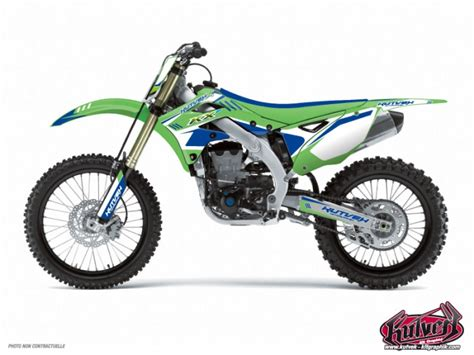 kit deco 125 kx kit d 233 co moto cross chrono kawasaki 125 kx bleu kutvek