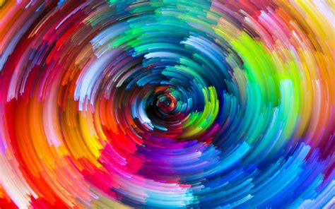 Rainbows Circle Colorful Swirl Whirling Wallpapers Hd