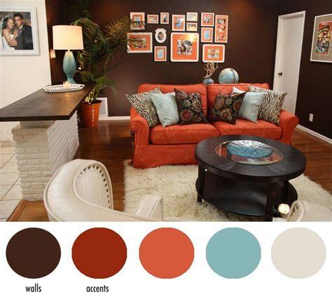 hotel chic design diys   home  simple     home living room orange