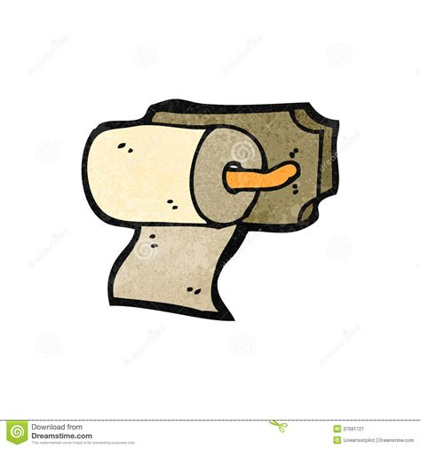 cartoon rolls retro cartoon toilet roll holder stock vector image
