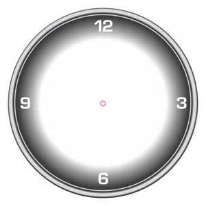 Blank Clock Template with Hands
