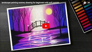 pastel tutorial landscape painting scenery drawing for