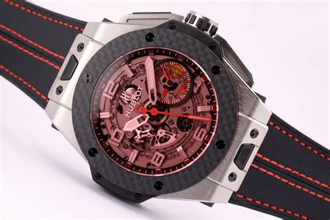 Lovers of complicated movements, as well as of exclusive materials such as magic gold (a gold and ceramic alloy), king gold (a red gold and platinum alloy), and carbon, will certainly get their. Hublot Big Bang Ferrari Titanium Carbon Limited Edition 401.NQ.0123.VR - The Luxury Well