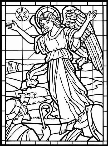 Coloring Pages Stained Glass Adult Angel Angels