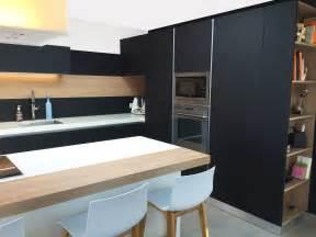 gamme de cuisine meuble cuisine noir kit moreno 1m80 5 meubles2 plans de