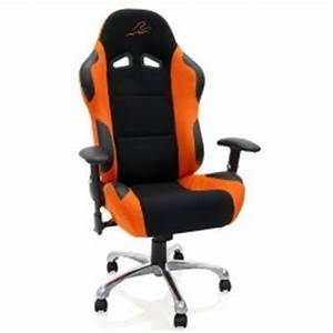 Fauteuil De Bureau Look Racing Orange Noir