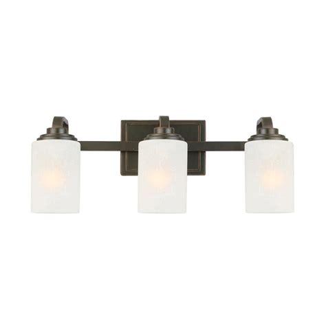 home depot bathroom vanity lights bronze hton bay 3 light rubbed bronze vanity light wb1001