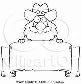 Prospector Cartoon Coloring Miner Clipart Banner Nugget Template sketch template