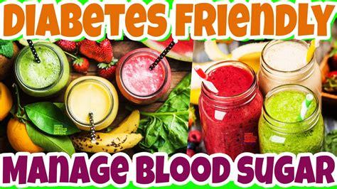 healthy drinks  manage high blood sugar