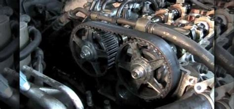 how to remove and replace the timing belt on a 1997 mazda 626 171 auto maintenance repairs