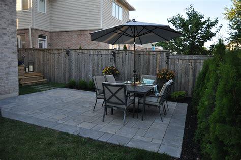 Unilock Patio - unilock paver patio and deck in bronte creek oakville on