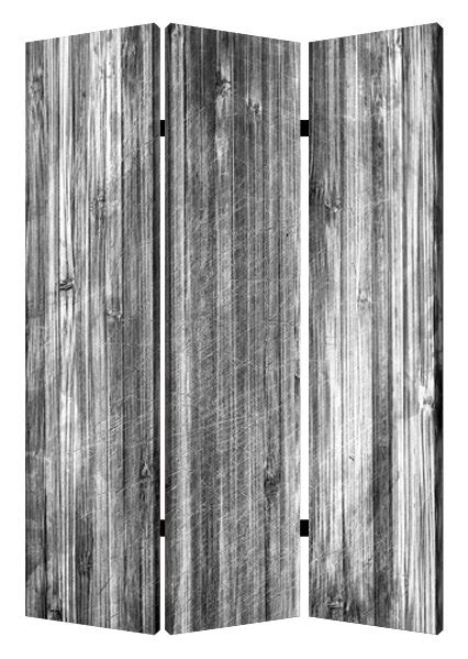 """Screen Gems 72"""" X 48"""" Distressed Wood Canvas 3 Panel Room"""