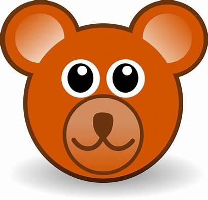 Bear Brown Teddy Face Funny Clipart Cartoon