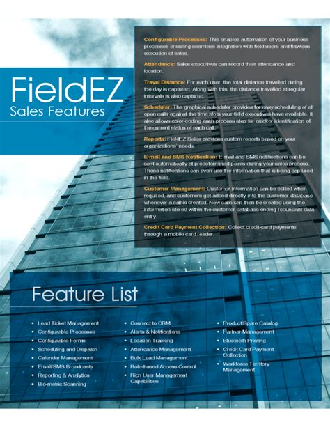 sales brochure fieldez free
