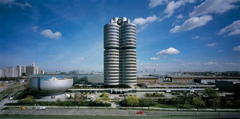 bmws tower  museum  munich celebrate  years