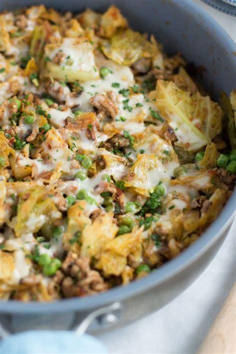1 pound of uncooked ground turkey breast. Ground Turkey Cabbage Skillet | Recipe | Diet | Cabbage skillet recipe, Skillet meals, Turkey ...