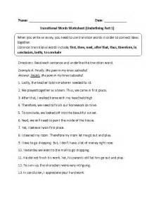transition words worksheet 5th grade worksheets for all