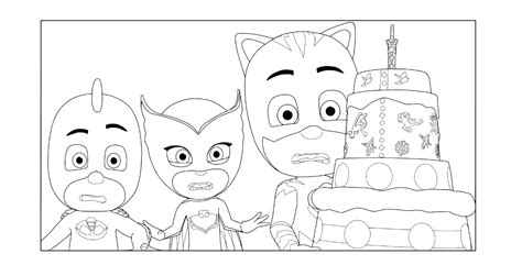 pj masks coloring pages    print