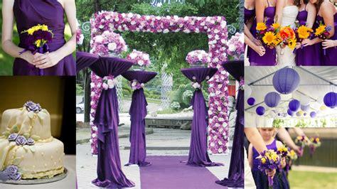 wedding theme purple and yellow popular wedding color ideas 2015